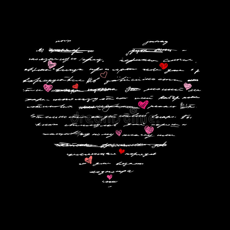 Download Heart Illustration. Love. Vector Background. Stock Photography - Image: 25934702