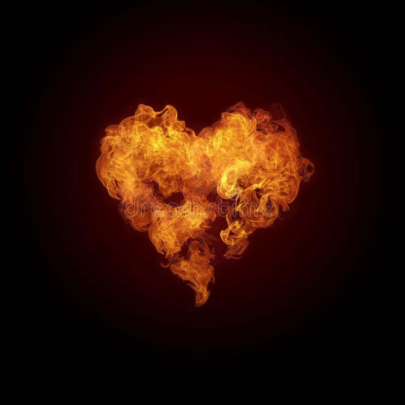 Free Heart In Fire Royalty Free Stock Photo - 16413005