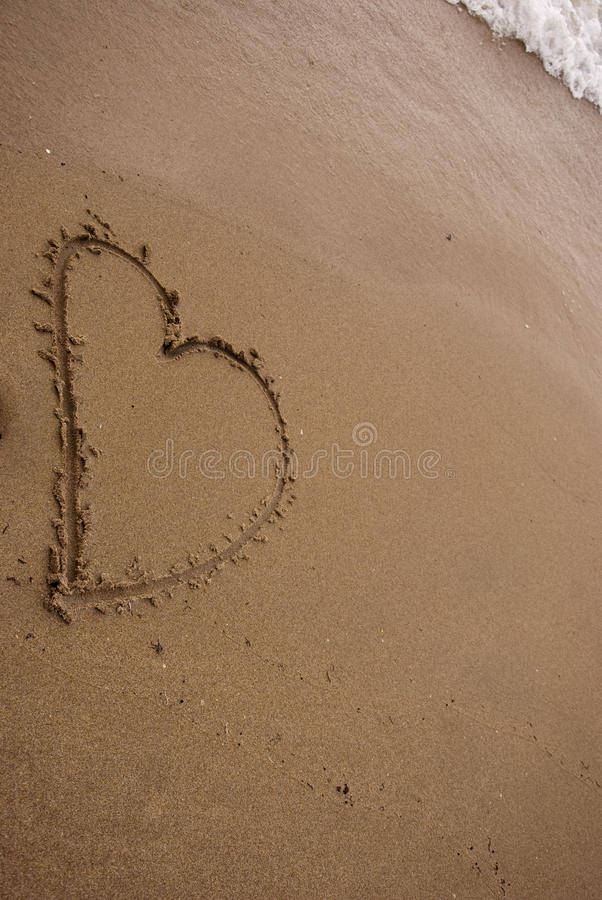 Free Heart In The Sand Royalty Free Stock Image - 9957546
