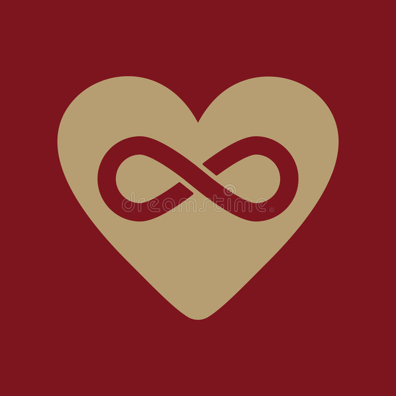 The Heart And Infinity Icon Heart And Infinity Stock Vector