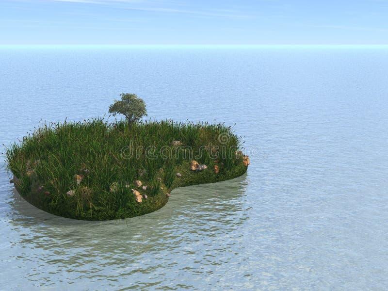 Heart_island ilustración del vector