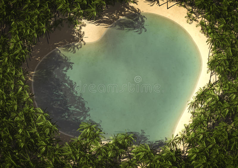 Download Heart island stock illustration. Image of aerial, love - 23239877