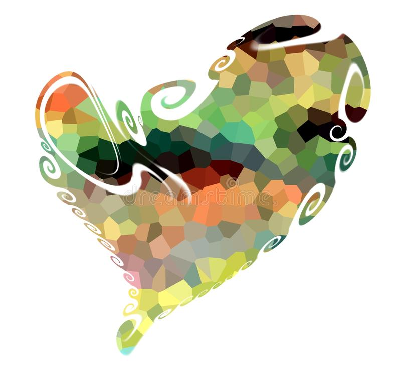 Heart. Isolated playful heart, background royalty free stock images