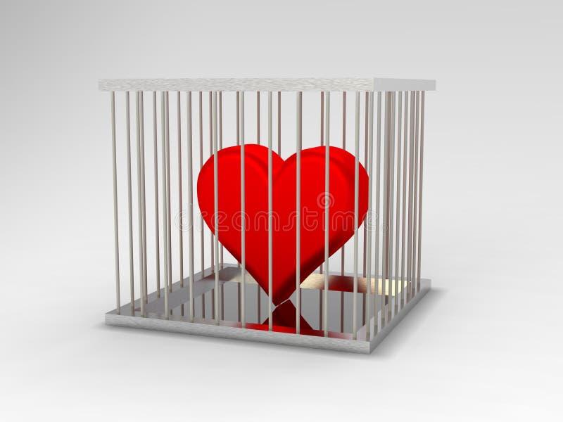 Heart In Jail royalty free illustration