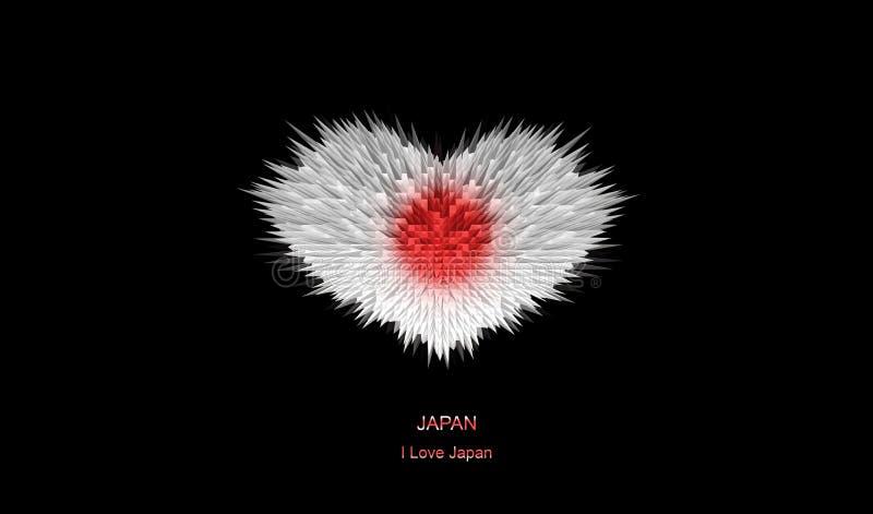 The Heart of Japan Flag. stock illustration
