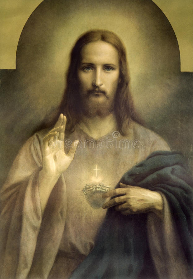 Heart of Jesus Christ stock image