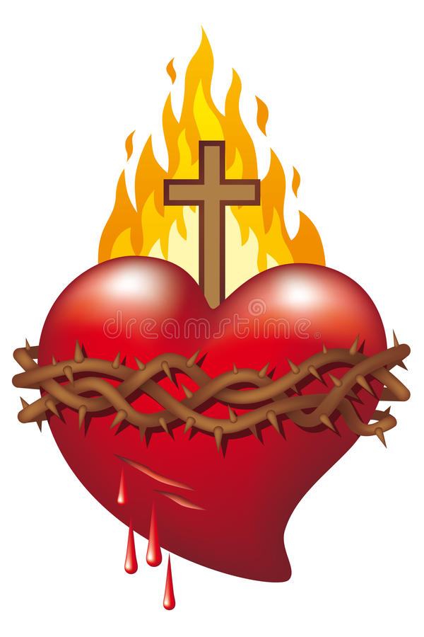Heart of Jesus royalty free illustration