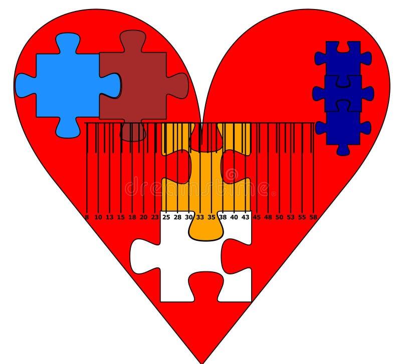 Heart jigsaw stock photo