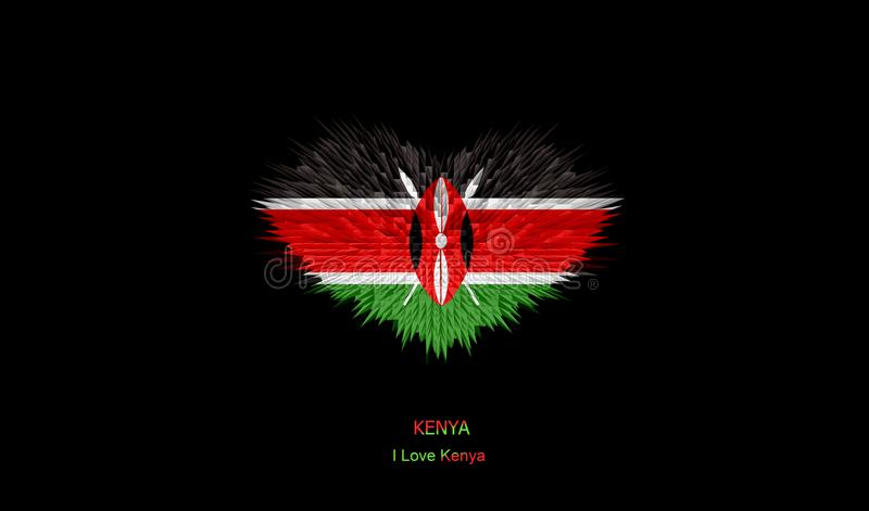 The Heart of Kenya Flag. stock photography