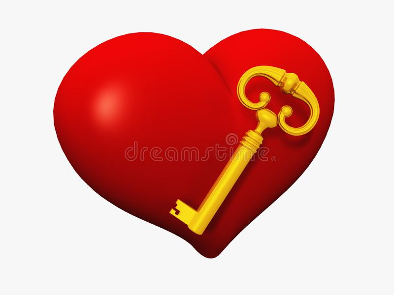 Heart and Key stock image