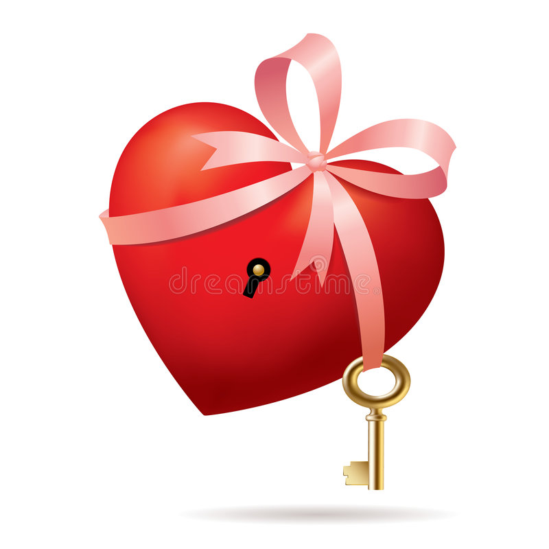 Heart With A Key Royalty Free Stock Photo