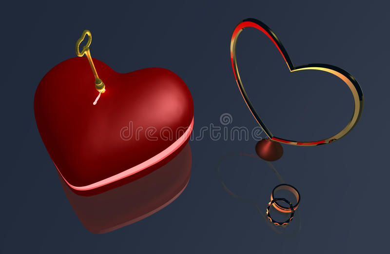 Download Heart Key B1a stock illustration. Image of caring, light - 28506356
