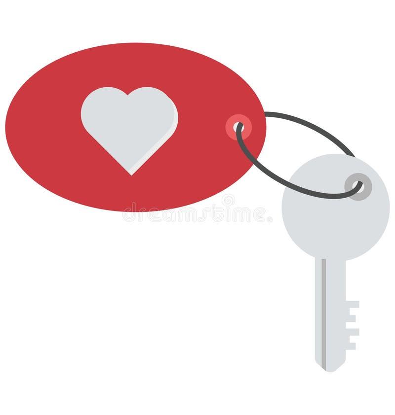 Heart, keychain Vector Icon vector illustration