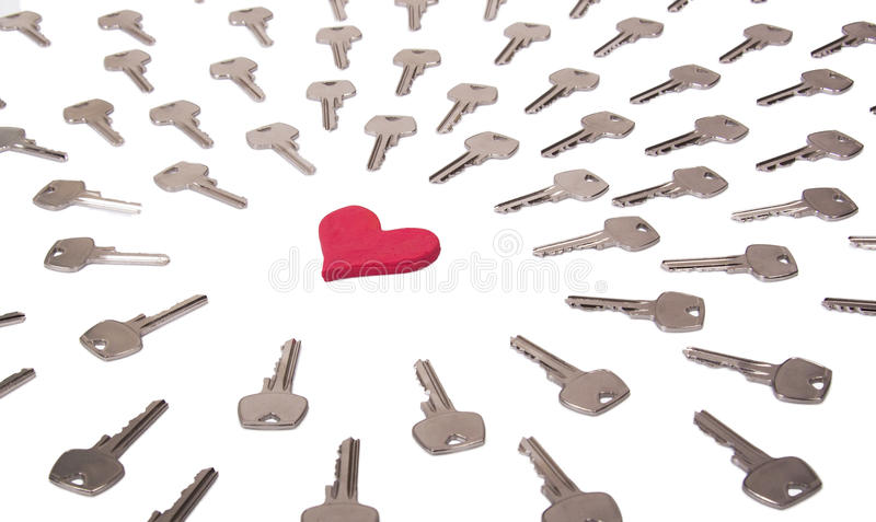 Download Heart and keys concept stock illustration. Illustration of password - 34358711