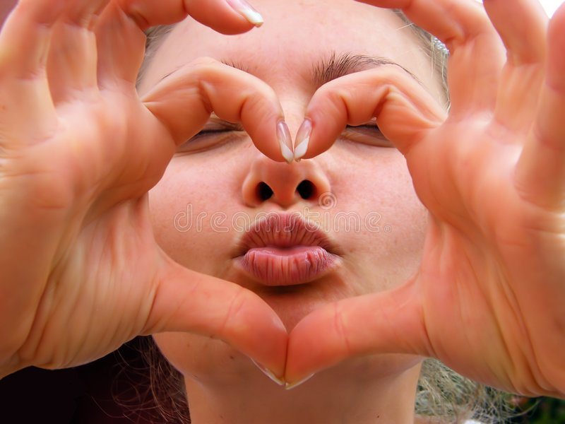 Download Heart kiss stock photo. Image of emotions, details, mouth - 5250348