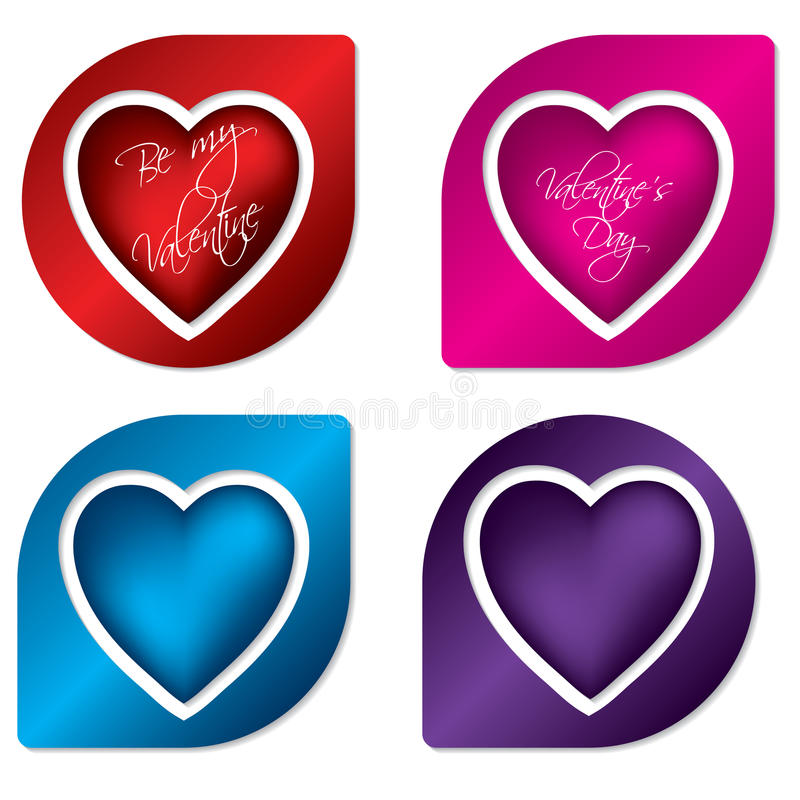 Download Heart label design set stock vector. Illustration of label - 18141903