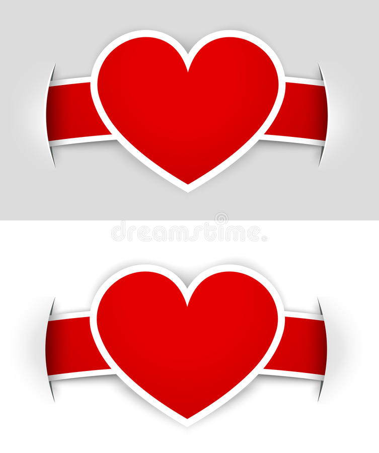Heart labels stock image