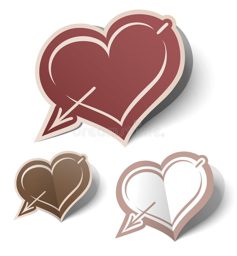 Heart labels royalty free stock photo