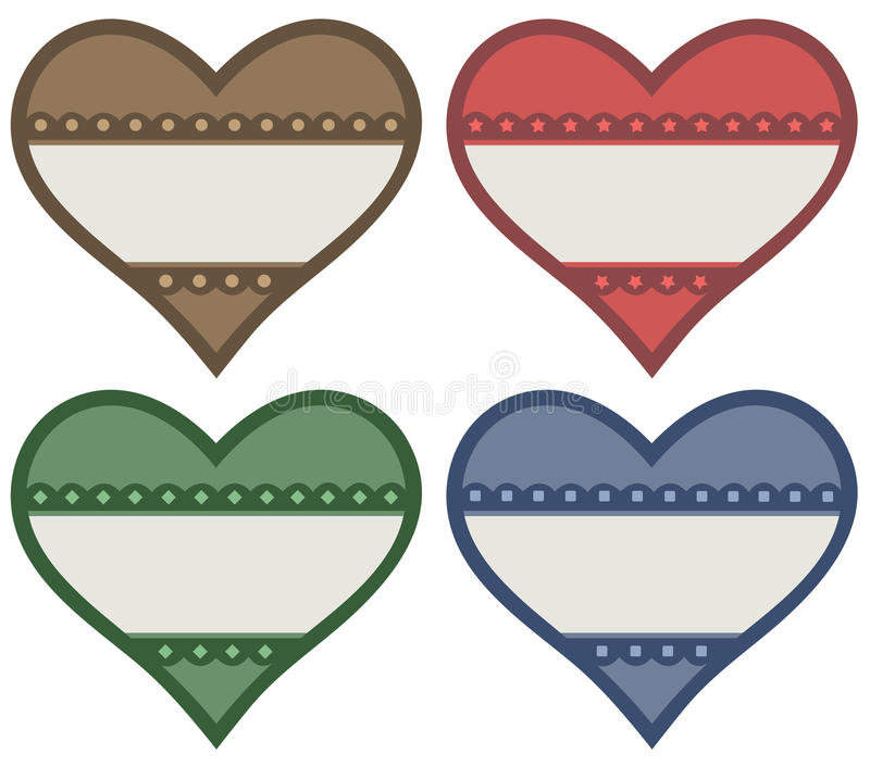 Download Heart labels stock vector. Illustration of decorative - 31806286