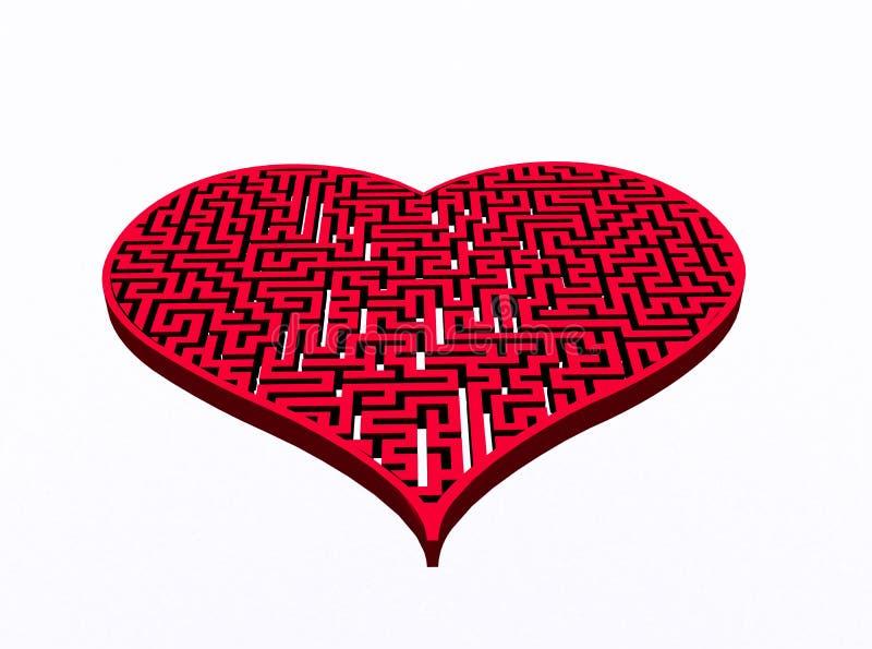 Heart&labyrinth 向量例证