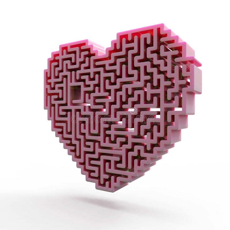 Download Heart Labyrinth Stock Image - Image: 28951821