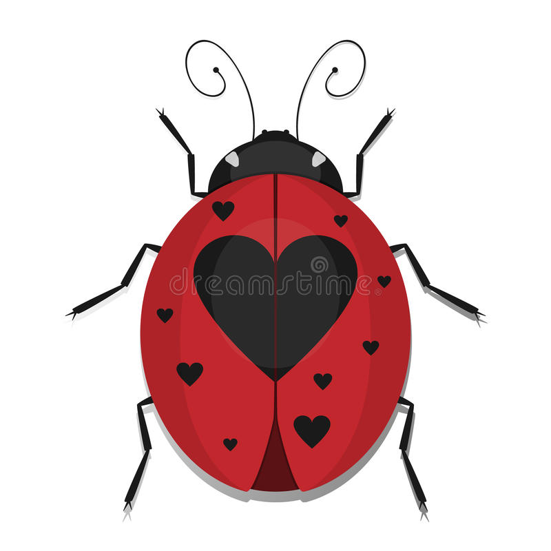 Heart Ladybug royalty free illustration