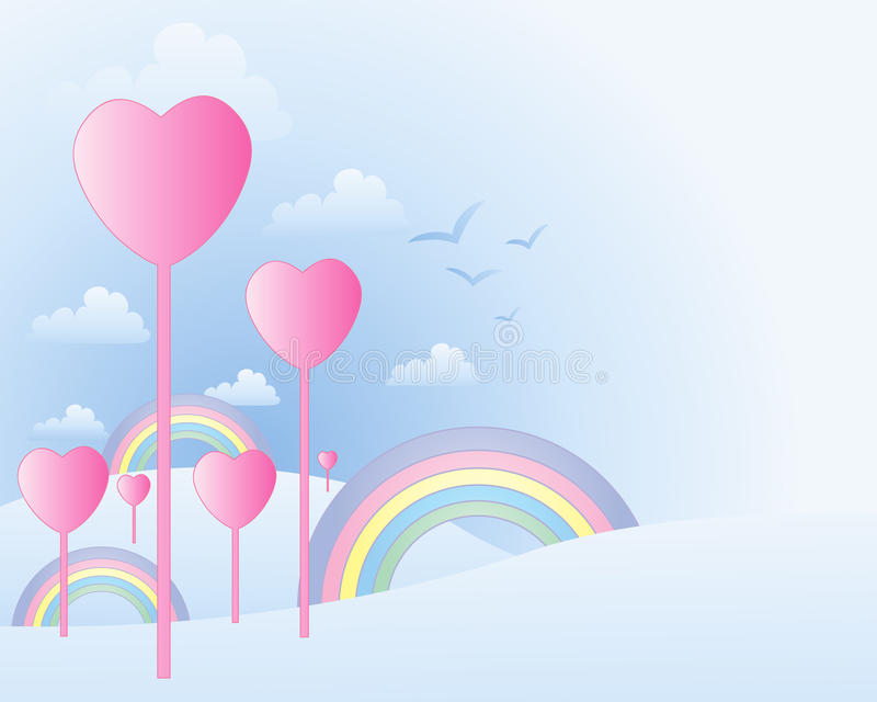 Download Heart landscape stock vector. Image of white, pastel - 28190397