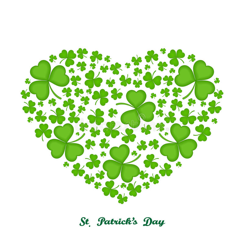 Heart leaf clover - illustration. stock image
