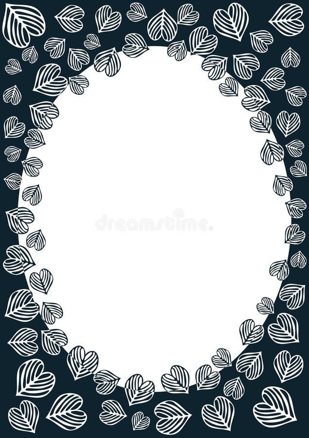 Download Heart leaves border frame stock illustration. Illustration of design - 38814900