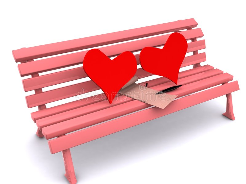 Heart And Letter Royalty Free Stock Images