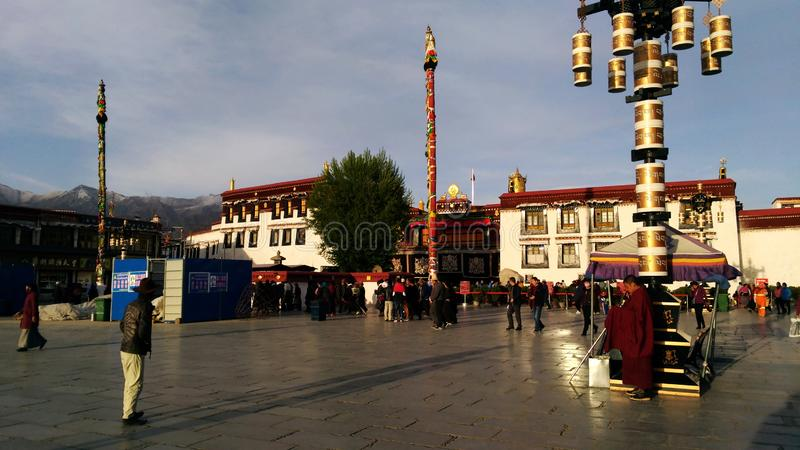 The heart of Lhasa stock image