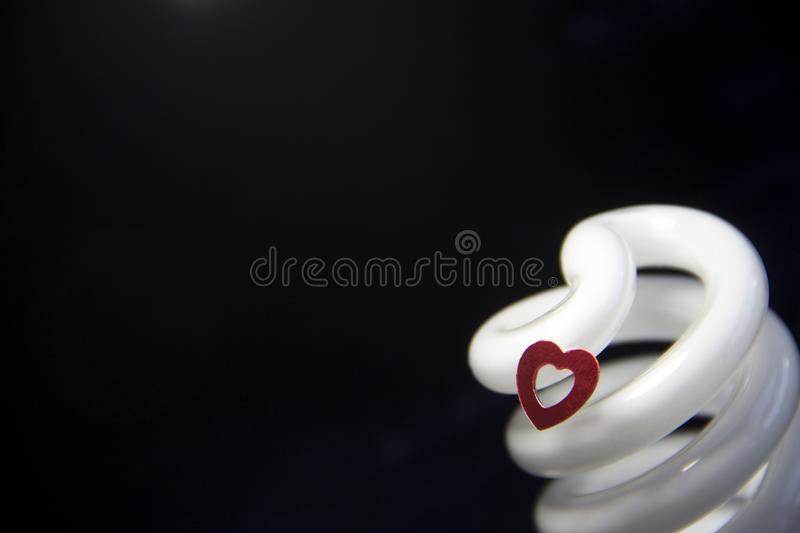 Heart and light royalty free stock photo
