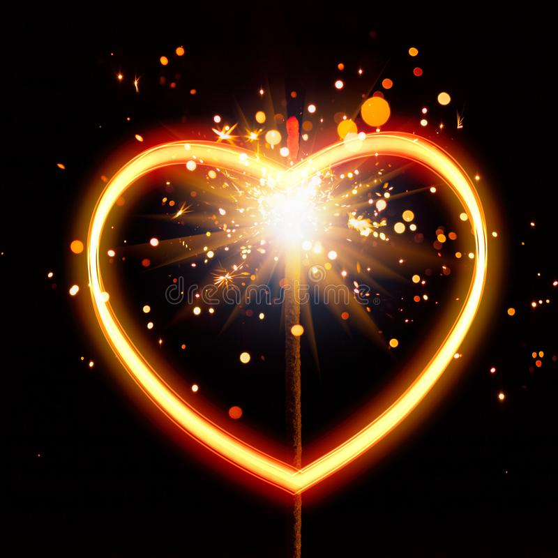 Free Heart Light With Sparks Background Stock Photos - 109137913