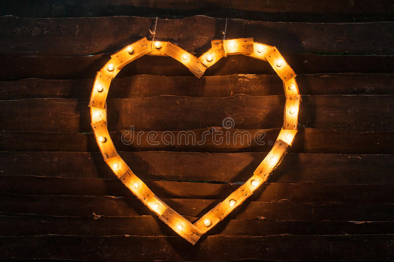 Heart Frame On Dark Background . Illustration Design Stock ...