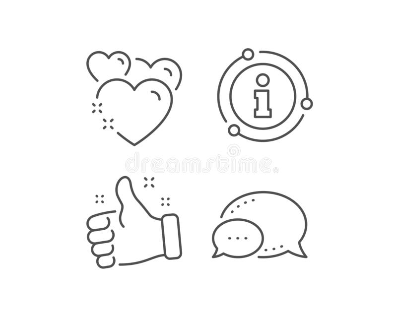 Heart line icon. Love emotion sign. Vector stock illustration