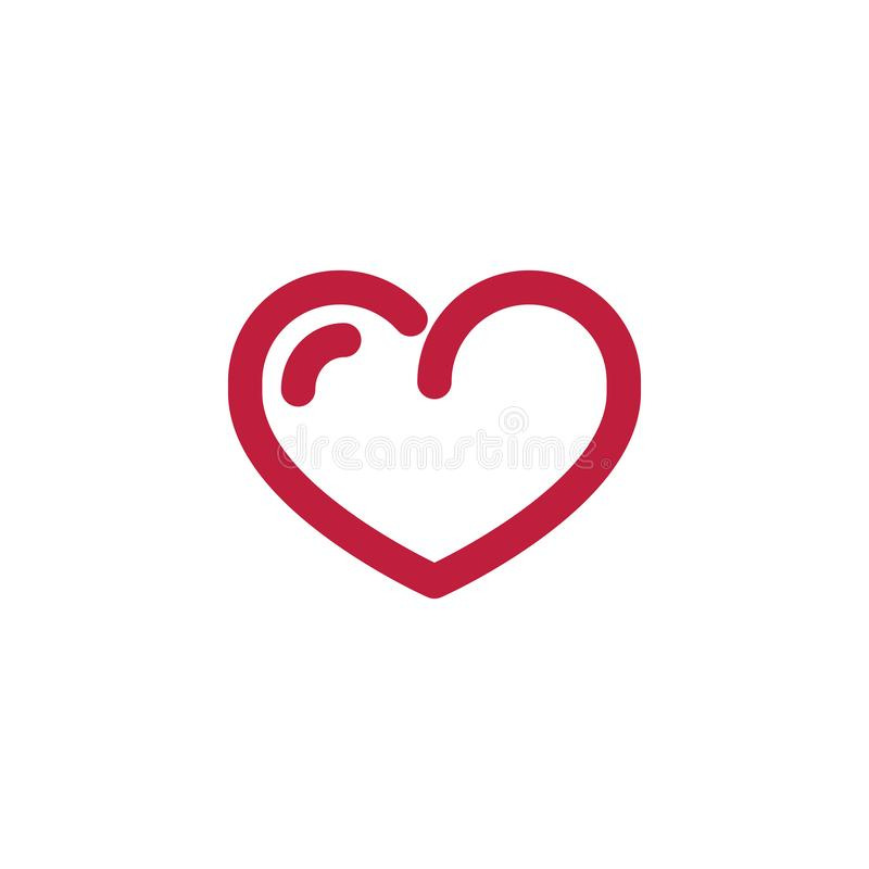 Heart line icon, love logo, linear pictogram isolated on white stock illustration