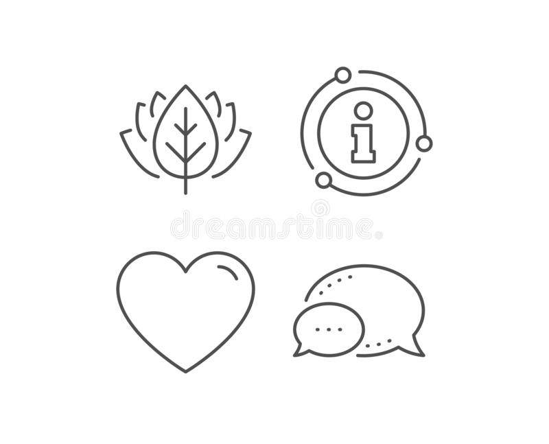 Heart line icon. Love sign. Vector. Heart line icon. Chat bubble, info sign elements. Love sign. Valentines Day sign symbol. Linear heart outline icon stock illustration