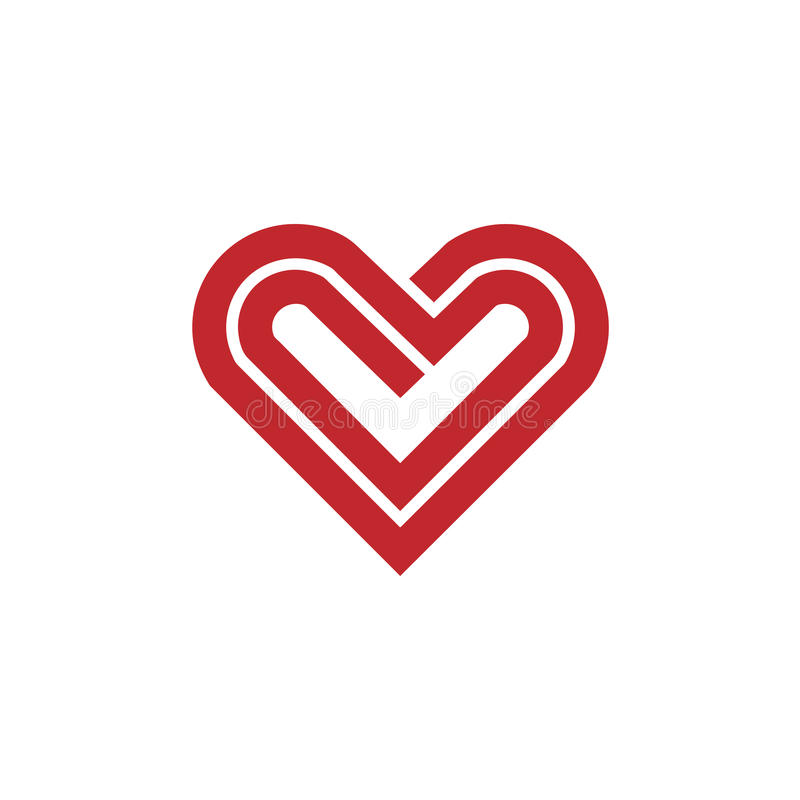 Heart line vector logo vector illustration