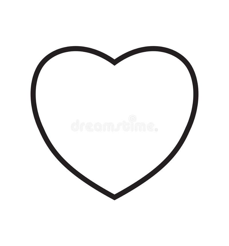 Heart linear icon love symbol on white illustration stock illustration