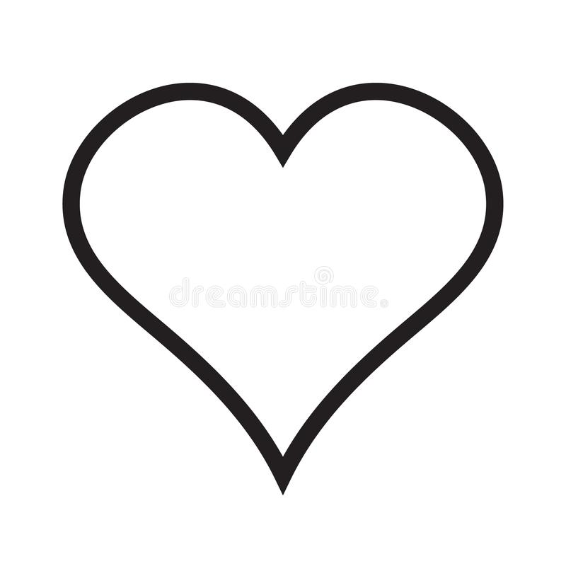 Heart linear icon, love icon royalty free illustration