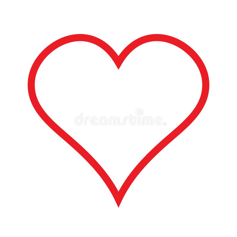 Heart linear icon, outline love icon stock illustration