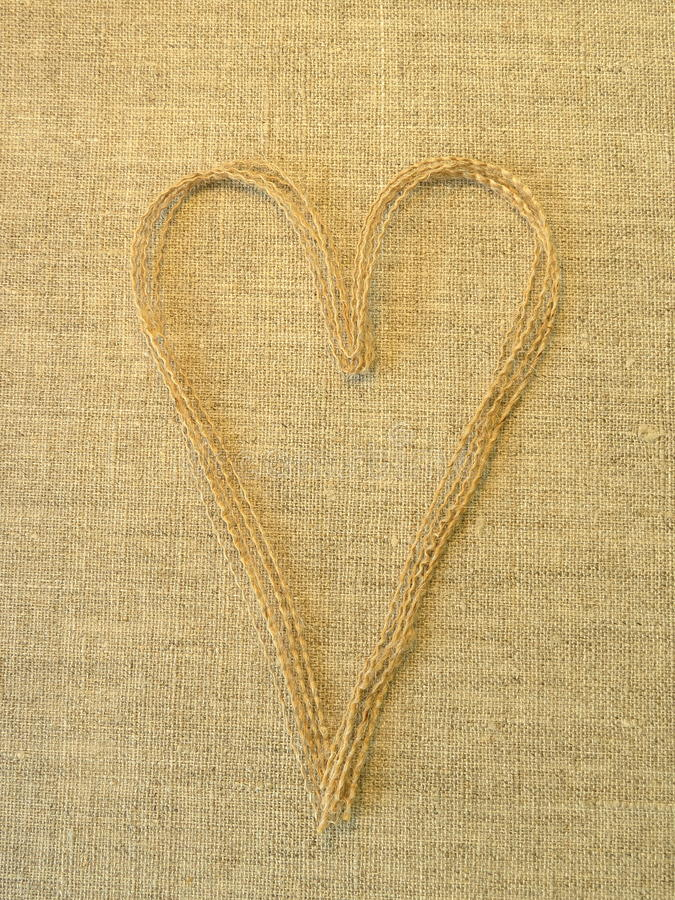 Download Heart on linen fabric stock photo. Image of thread, surface - 24842444