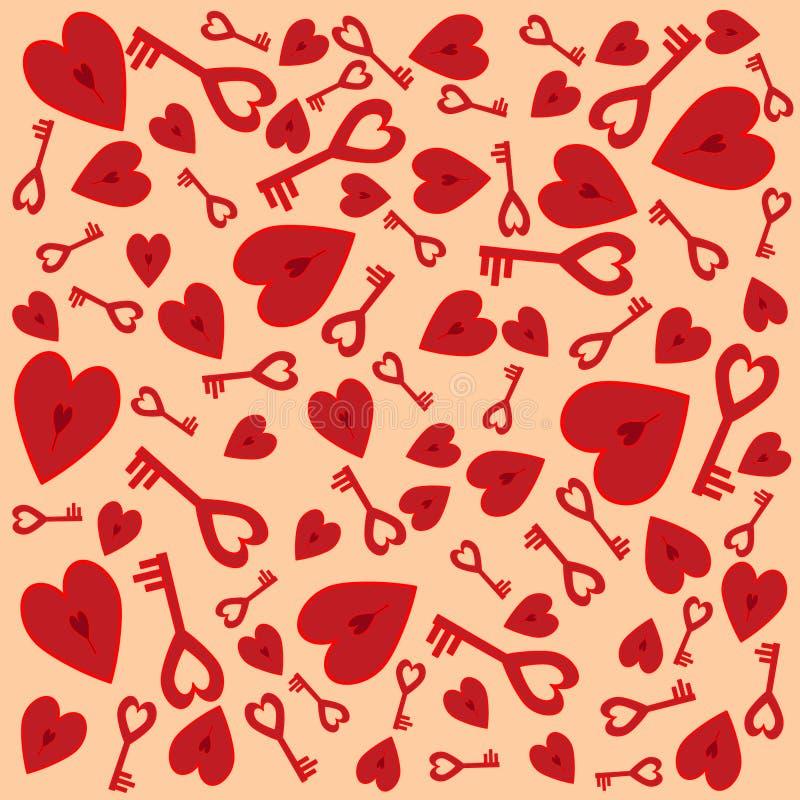 Heart_lock stock illustrationer