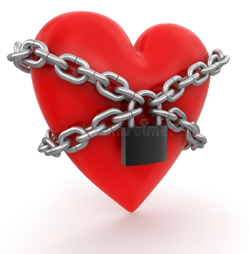 Download Heart And Lock (clipping Path Included) Stock Illustration - Image: 34029533