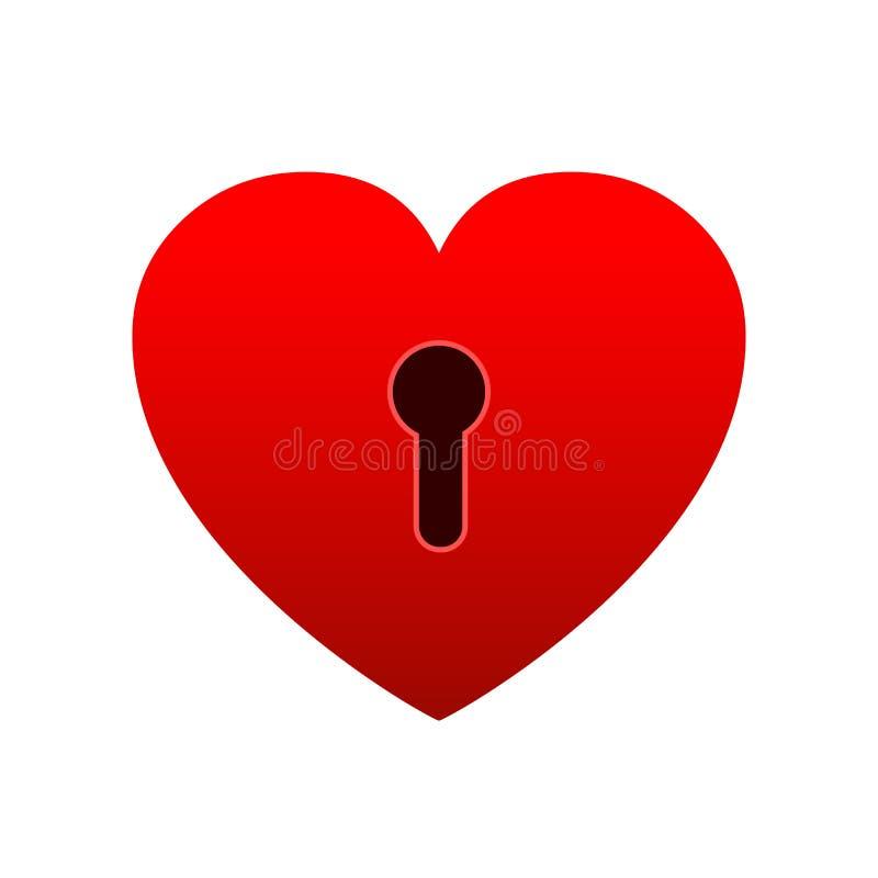 Heart lock icon. Unlock love, heart flat icon for apps and websites -. Heart lock icon. Unlock love, heart flat icon for apps and websites – stock royalty free illustration