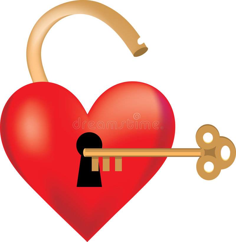 Free Heart Locked Stock Photography - 1844732