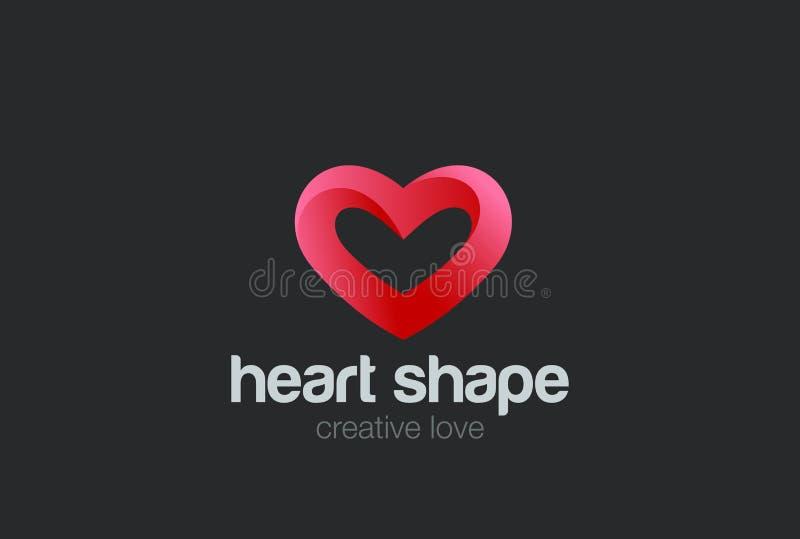 Heart Logo design vector. Valentine day love royalty free illustration