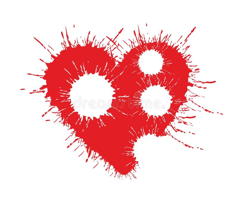 A heart Logo. The heart logo drawn with paint drops vector illustration