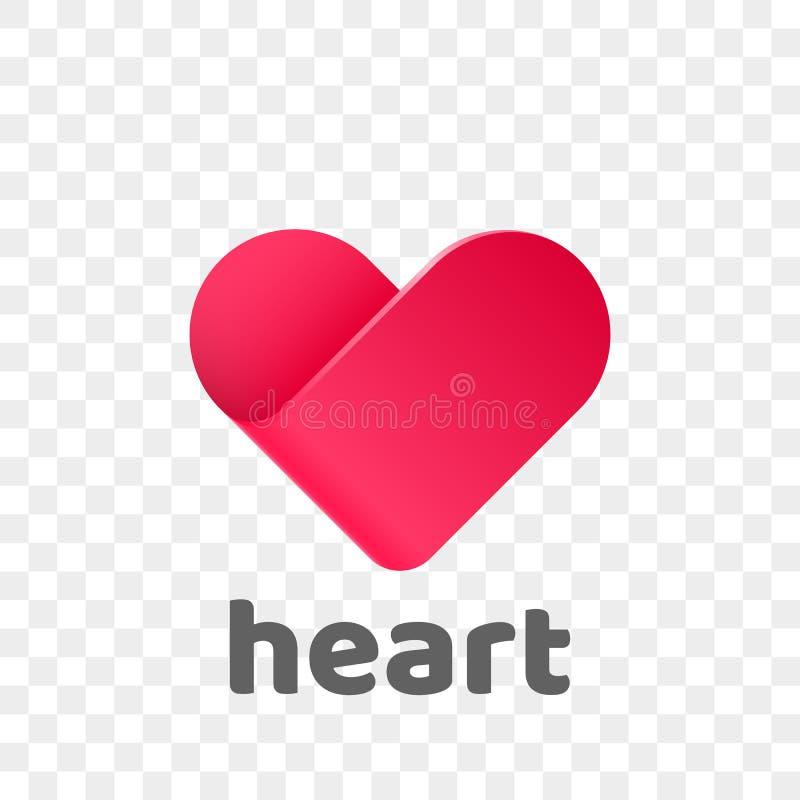 Heart Logo Vector Modern Abstract Flat App Icon Stock Vector