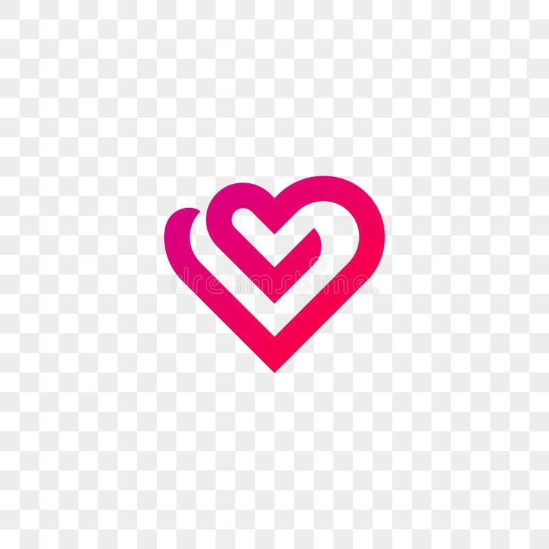 Heart Logo Vector Line Flat Web App Icon Stock Vector Illustration